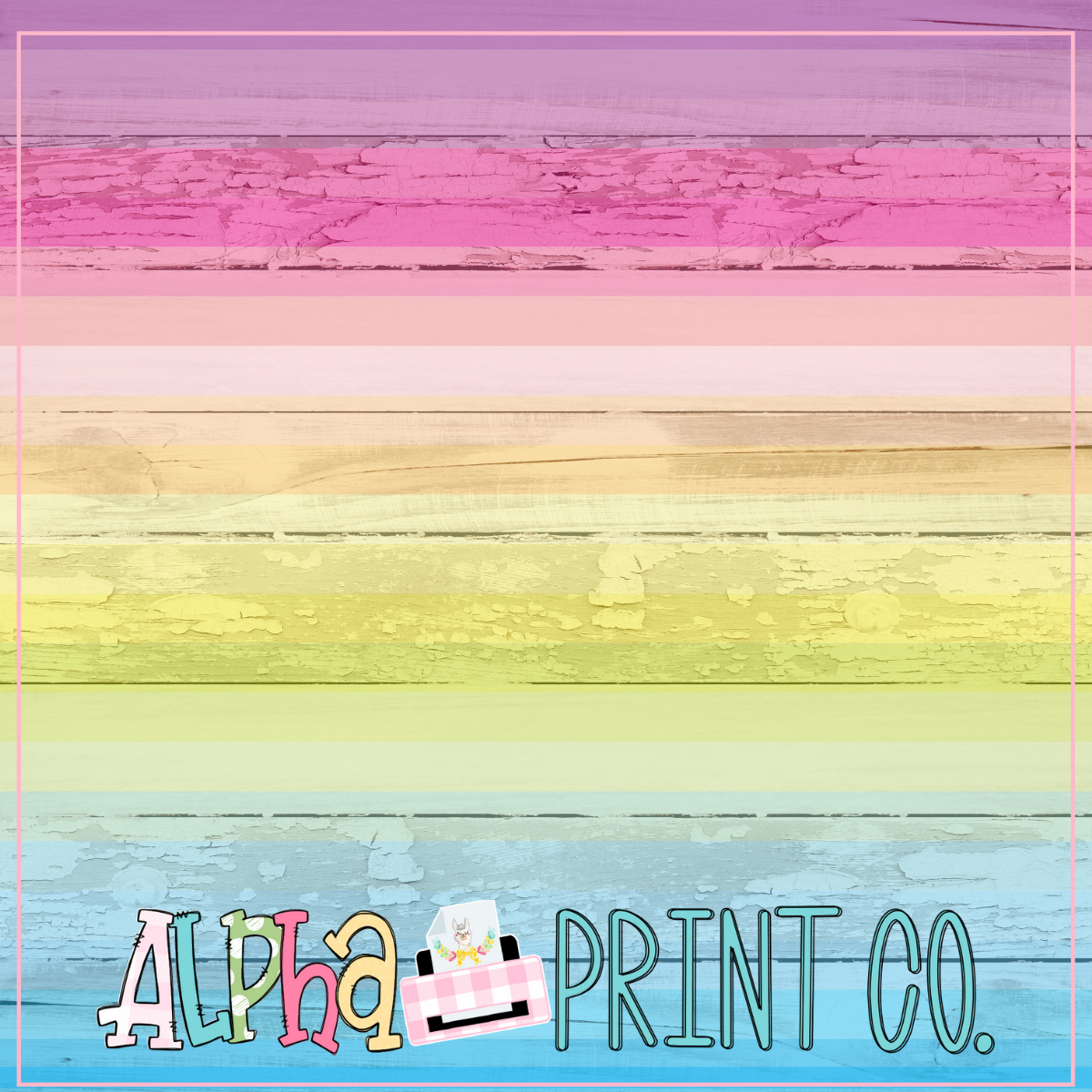 Backdrop- Distressed Wood- Rainbow