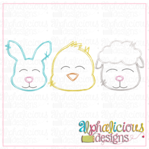 Bunny - Chick - Sheep - Three In a Row - Scribble