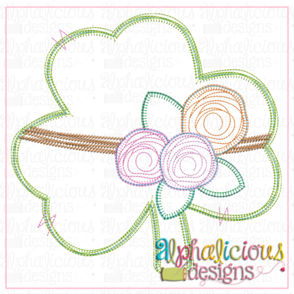 Clover with Tied Flowers - Blanket