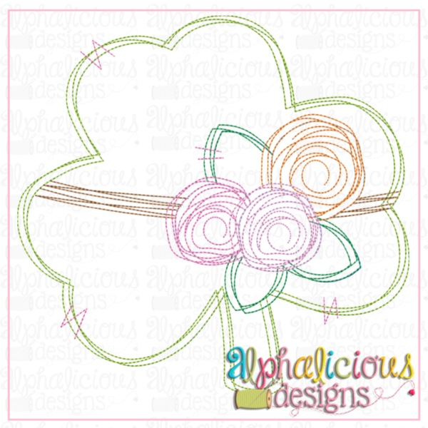 Clover Tied with Flowers - Triple Bean