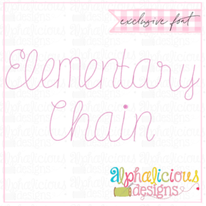 Elementary Single Chain Embroidery Font