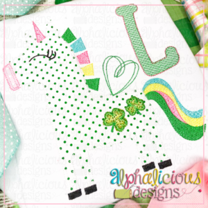Happy Unicorn with Clovers - Blanket