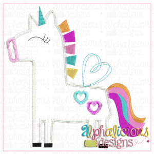 Happy Heart Unicorn- Zig Zag