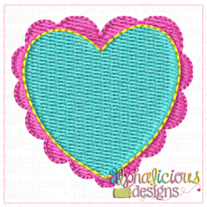 Scalloped Heart-MINI- Fill