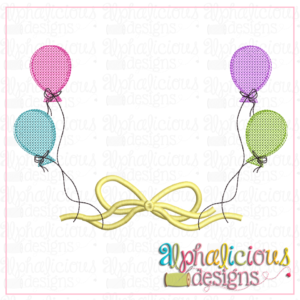 Balloon Frame with Bow