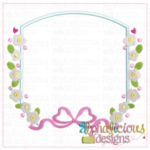 Heirloom Frame with Flowers and Bow