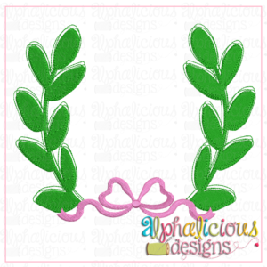 Simple Leaf Laurel with Bow